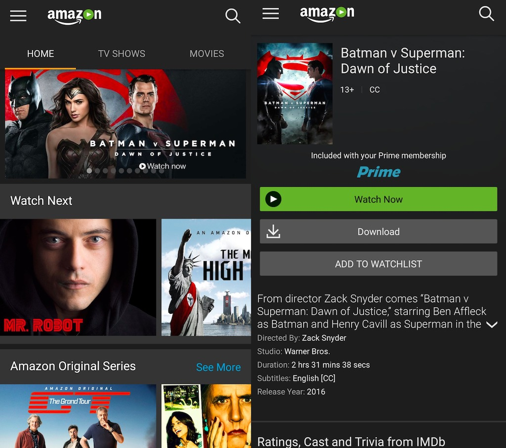 download amazon prime videos