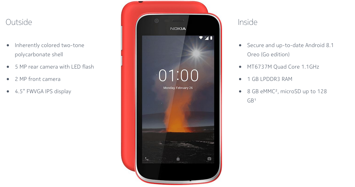 Nokia 1 for Android Go